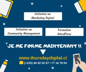 Formation en Marketing digital thursday digital - aubin zoh